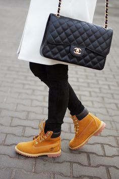 This is essentially my personality expressed in style perfectly. Chanel. Tims. Black and white. Yes.