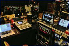 Geoff's Audio HQ on set w/ our racks, @Sony Professional  monitor, Sound Devices PIX260i, & @Yamaha DM 1000