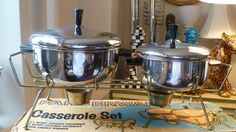 Vintage Farberware Stainless Steel Casserole Set No 743 Candlelight Server | eBay