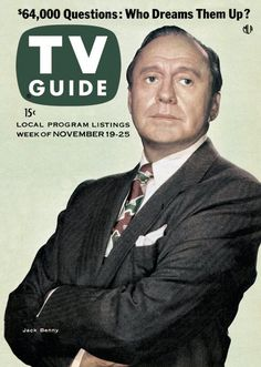 TV Guide November 19, 1955 - Jack Benny of The Jack Benny Program.