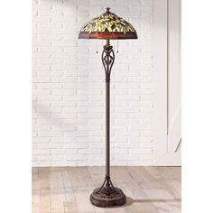 Leaf and Vine II Tiffany Style Floor Lamp - #8J045 | Lamps Plus