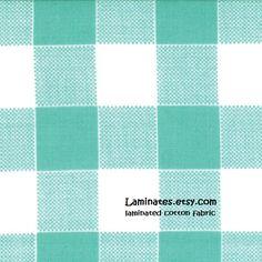 20 X 20 LAMINATED fabric  Aqua Blue Checks Glamping by Laminates, $5.00  https://www.etsy.com/listing/182419168/20-x-20-laminated-fabric-aqua-blue?ref=shop_home_active_1