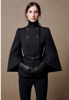 "dc-comics-fashion: "" Outfit for Zinda Black ""Lady Blackhawk"" Alexander McQueen Fall/Winter 2015 "" Mode Outfits, Fashion Outfits, Fashion Trends, Dress Fashion, Couture Fashion, Outfit Trends, Inspiration Mode, Fashion Inspiration, High Fashion"