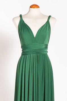 3bb641181cdaa3 Green Infinity dress / Green Long Infinity dress / by mimetik Winter  Brautjungfern, Winter Brautjungfernkleider