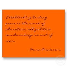 Maria Montessori Quote No. 3 Post Card