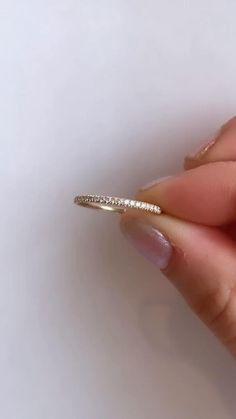 Eternity Ring Diamond, Diamond Wedding Rings, Diamond Rings, Wedding Bands, Gold Rings, Hand Jewelry, Dainty Jewelry, Trendy Jewelry, Wire Jewelry