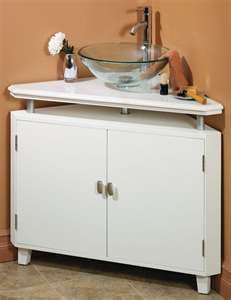Finally! I love this corner sink cabinet! Stupid bathroom with ZERO storage.