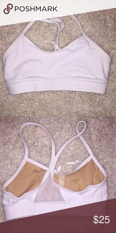 8d97809e43 Lululemon Power Y Sports Bra Lululemon Power Y Sports Bra. Size 2. Color  White