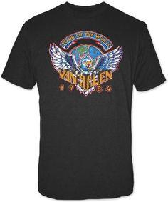 Van Halen Concert T-shirt - Van Halen 1984 Tour of the World | Men's Black T-shirt