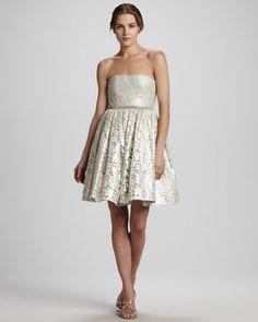 Alice + Olivia Nellie Strapless Cocktail Dress - Neiman Marcus