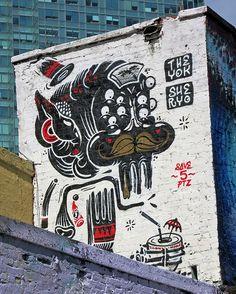 5Pointz Mural by The Yok & Sheryo