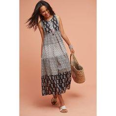 Raga Tiered Peasant Dress ($138) ❤ liked on Polyvore featuring dresses, black motif, peasant dress, boho dresses, textured dress, tiered dresses and bohemian dresses