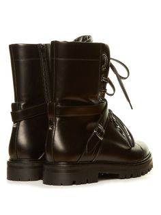 Valentino Rockstud tread-sole leather ankle boots