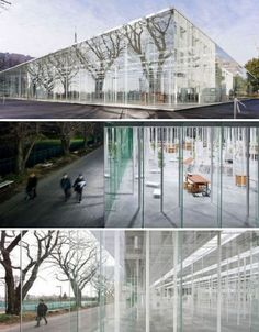 The lines between indoors and out are blurred in the crystalline Kanagawa Institute of Technology studio and workspace, designed by Junya Ishigami and Associates.