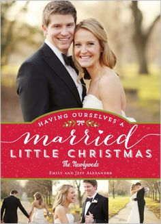 Married Little Christmas 5x7 Stationery Card by Berry Berry Sweet | www.Shutterfly.com