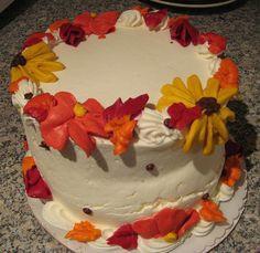 fall flowers cake