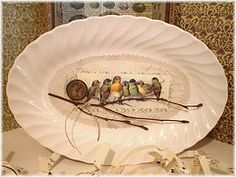 I love this collage work at The-Feathered-Nest.blogspot.com