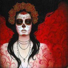 calavera, day of the deads, dia de los muertos, diadelosmuertos, mexican skull, painting