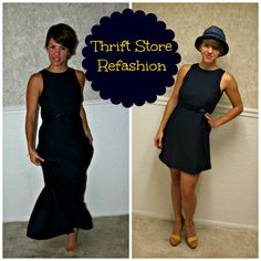 DIY a thrift store refashion - what's old is new again and for a bargain!