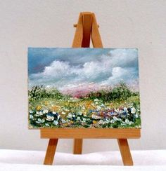sold Small Canvas Paintings, Mini Canvas Art, Small Paintings, Spring Painting, Art Base, Small Art, Acrylic Art, Painting & Drawing, Flower Art