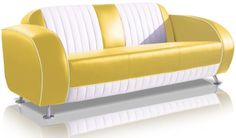 Sofa Dinersofa retro Style Couch Lounge Designer Sofa Wartemöbel (Yellow/White) BelAir http://www.amazon.de/dp/B00J25OSU2/ref=cm_sw_r_pi_dp_u8A4ub0FJ57MW