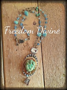 Little Boy Blue Vintage Locket Necklace by freedomdivine on Etsy
