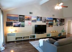 Last time we updated y'all on the living room progress, we had put up our curtains and built a new media center that left our walls begging for some art. Good thing we have a TON. We decided to do a big gallery wall using all of our printed canvases. But we are planners so […]
