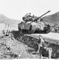 """f10b94004ed1 The 8th hussar regiment of the British army and its tanks """"centurion""""  during the"""