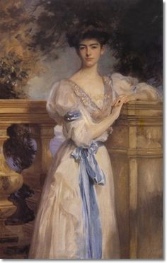 Gladys Vanderbilt, c.1906 by John Singer Sargent. She looks like Anne Hathaway to me.
