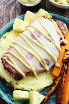 GRILLED MALIBU CHICKEN - low carb - Juicy grilled chicken topped with thick cut ham, swiss cheese, and an incredibly yummy sauce!