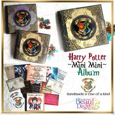 Harry Potter Miniature Handmade Mini Album - Quotes, Notebook, Stickers, Logo 2