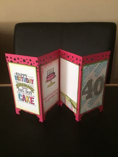 Big day and remembering your birthday stamp set screen divider card Fancy Fold Cards, Folded Cards, Screen Cards, Used Vinyl, Paper Gifts, Stampin Up Cards, Screens, Cardmaking, Birthday Cards