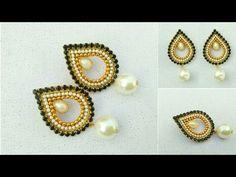 How To Make Designer Earrings // Chandbali Earrings // Paper Jewellery Making //DIY - YouTube
