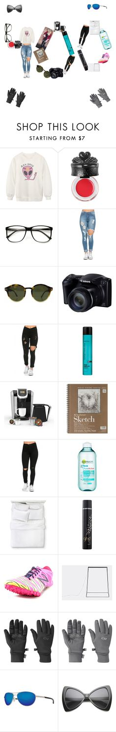 """400 followers  love my followers"" by sarahbear112 ❤ liked on Polyvore featuring Chicnova Fashion, Anna Sui, Tom Ford, Matrix Biolage, Keurig, Garnier, GHD, New Balance, Outdoor Research and Costa"
