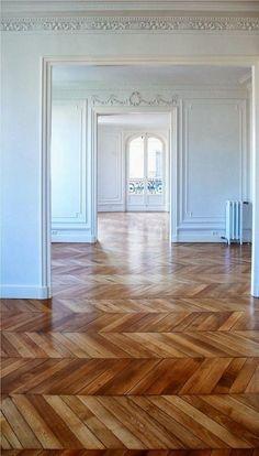 herringbon flooring