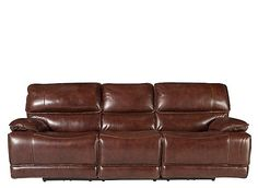 Relaxation Awaits You And Your Family With The Wallace Leather Power Reclining  Sofa. Concaved
