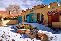 Old Town ... Snow ....  Albuquerque