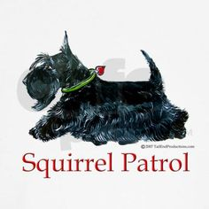 Ever ready and on Patrol, Scottish Terriers get the job done. Celebrate your Scottie with artwork by Cherry O'Neill for Tailendproductions.com.