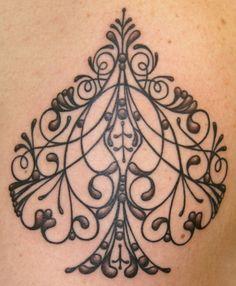 Filigree Spade tattoo