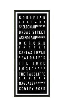 Oxford Destination Print