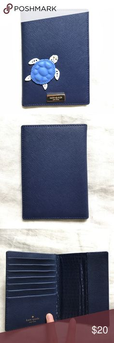 Kate Spade Passport Holder Never used. In perfect condition no marks or scuffs. Navy blue. Offers accepted. kate spade Bags