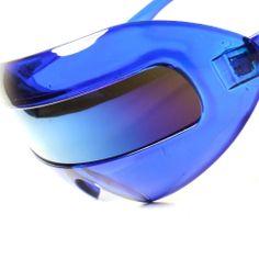 Space Robot Party Rave Costume Cyclops Futuristic Novelty Blue Sunglasses B2B #KISS #Futuristic