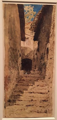 Here's a watercolor from the NGA show by Pio Joris, Rome, 1843-1921, done in 1873.