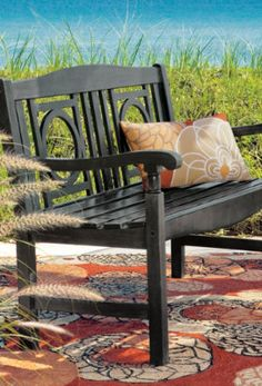 Weathered Outdoor Bench.