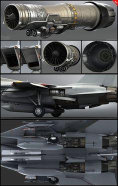 F-14D wip 7 Engines by *Siregar3D on deviantART
