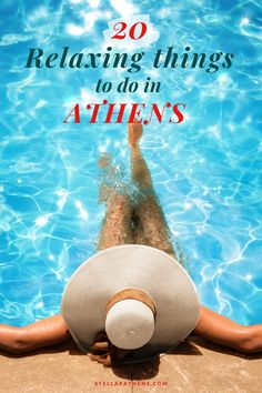 Top relaxing things to do while visiting Athens. 20 ideas that will help you calm and enjoy the city off the beaten path. Europe Travel Tips, Travel Destinations, Travel Advice, Relaxing Things To Do, Pool Contractors, Beach Adventure, All Inclusive Resorts, Athens Greece, Greece Travel