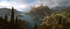 City on a Hill and Countryside | ArtStation - Illyria, Klaus Pillon