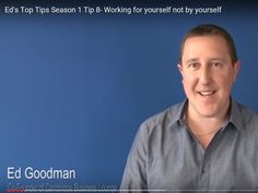 Episode 8 of this 1st season of #EdsTopTips looks at why working for yourself is not the same as working by yourself. Enjoy this video and why not subscribe to the others too. https://www.youtube.com/watch?v=iVTAcqEsQ_M