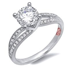 Demarco Heirloom Diamond Engagement Ring DW6871 - Available in White Gold 18KT and Platinum. 0.18 RD