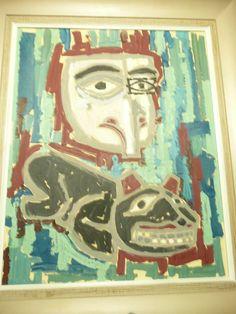 The Bear Totem. 1959. Oil and Tempura.